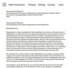 The curator qua listener | Mark Hutchinson