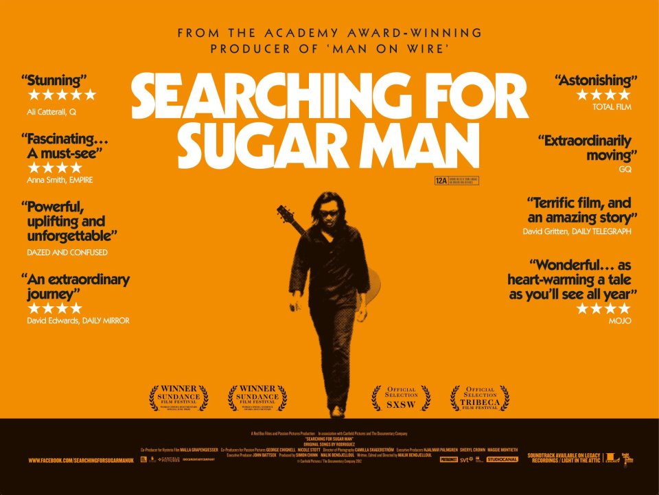 a review of searching for sugar man a 2012 swedish british documentary film by bendjelloul Searching for sugar man (bendjelloul, 2012) is a swedish-british documentary film that details the cultural phenomenon of american musician sixto rodriguez in south.