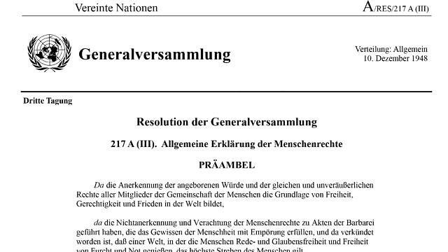 (Deutsch) Allgemeine Erklärung der Menschenrechte